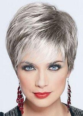 Cheveux gris short pixie pinterest cheveux gris - Couleur cheveux gris ...