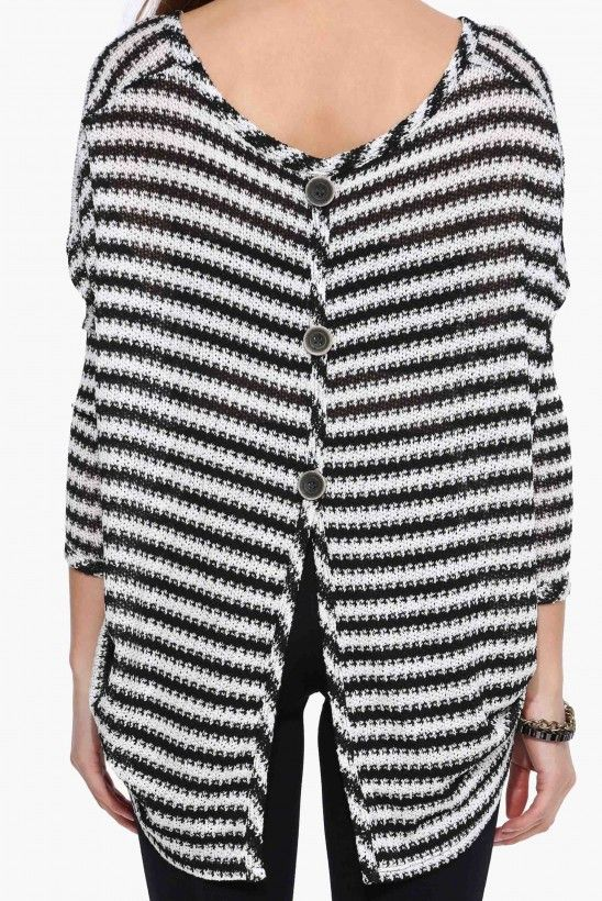 Piano Bar Evening Sweater in Black/white   Necessary Clothing