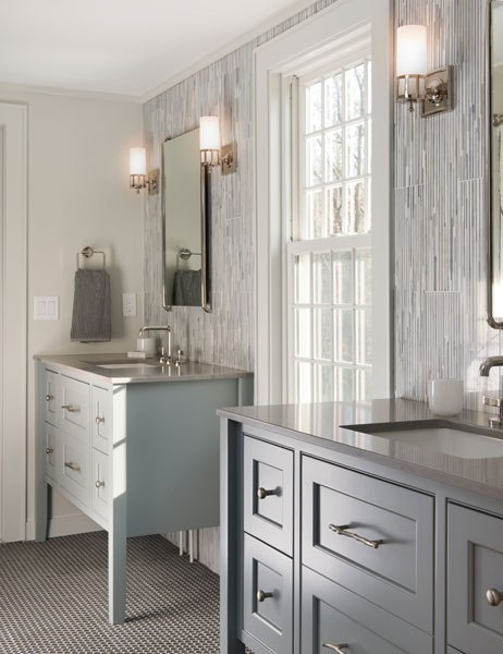 After: Sudbury, Massachusetts : Before + After: Reader Bathrooms : Architectural Digest