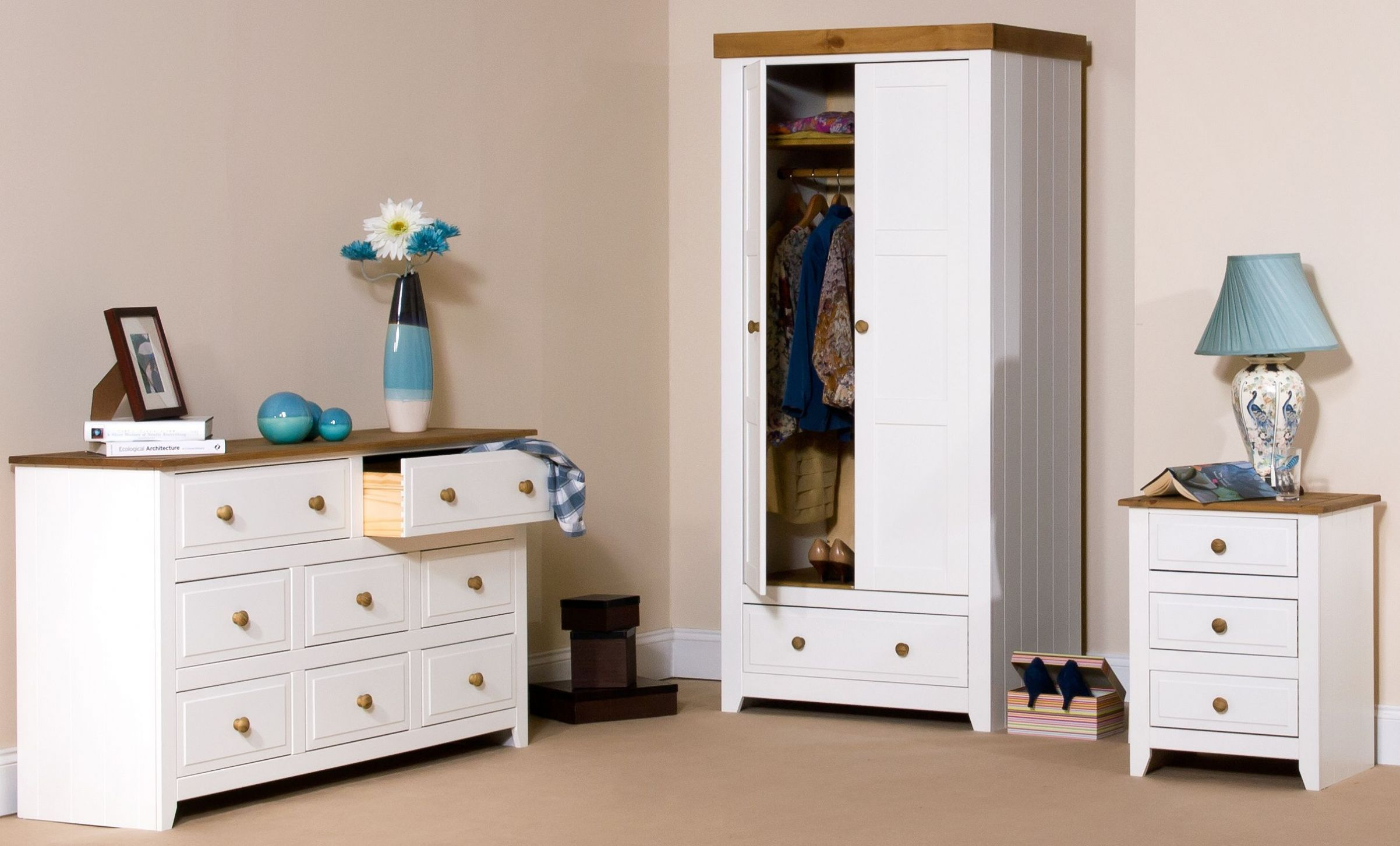Our Capri collection is a traditional wooden painted white range