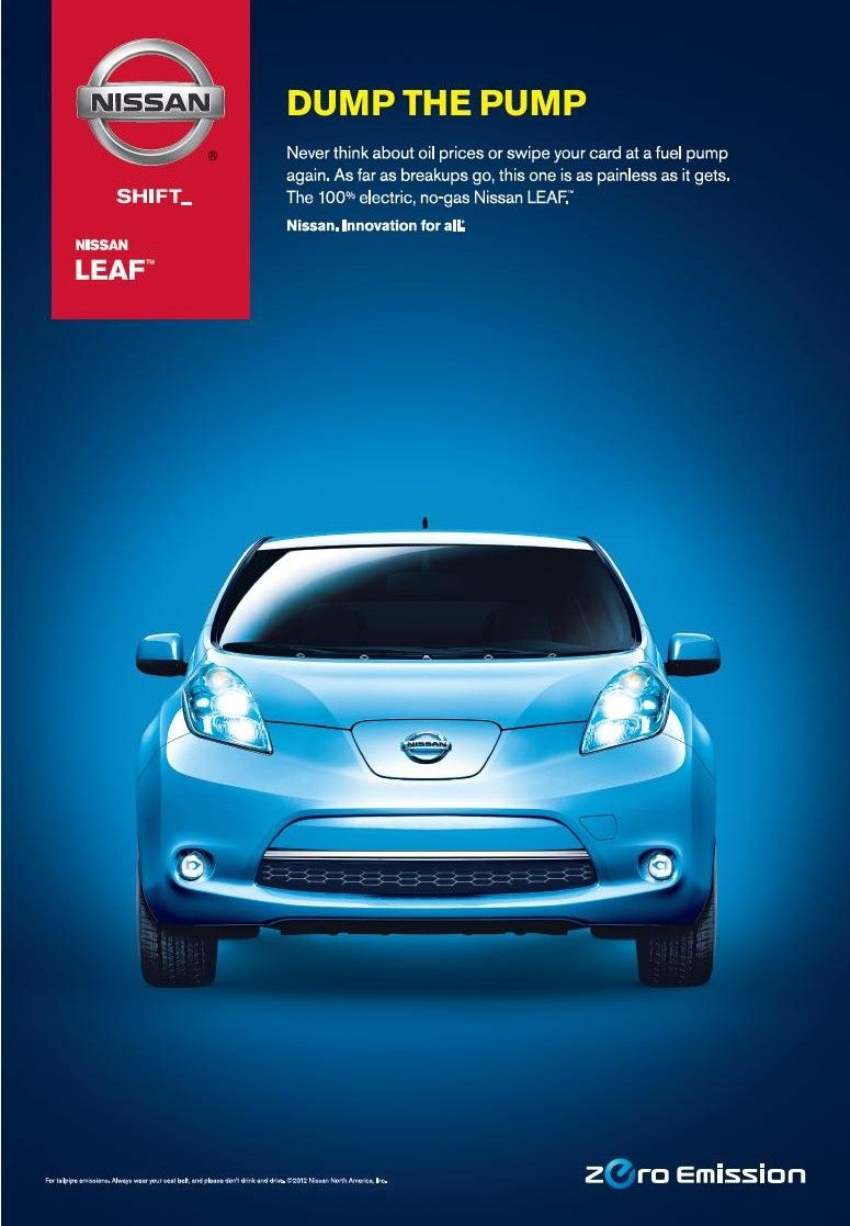 100 electric Nissan LEAF DUMP THE PUMP http//www
