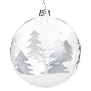 Boule forêt argentée sapin - Déco Noël Glacier - Maisons du Monde ...