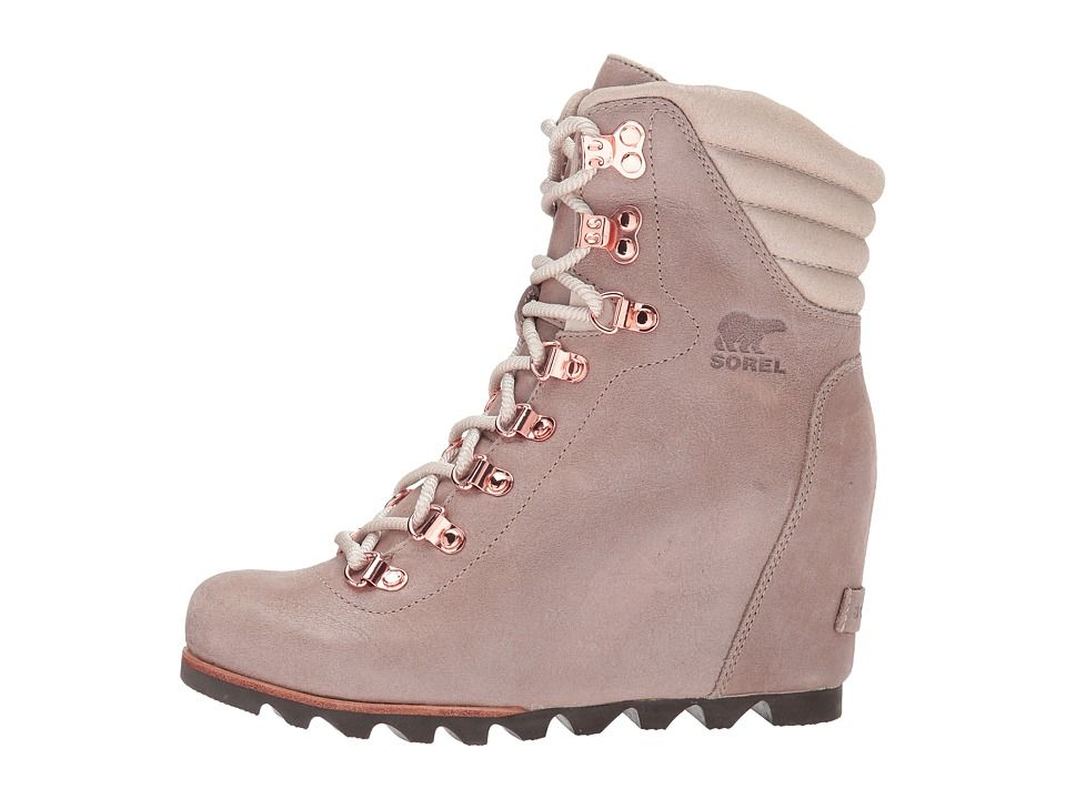33c79176eef434 SOREL Conquest Wedge Holiday Women s Waterproof Boots Beach Fawn ...
