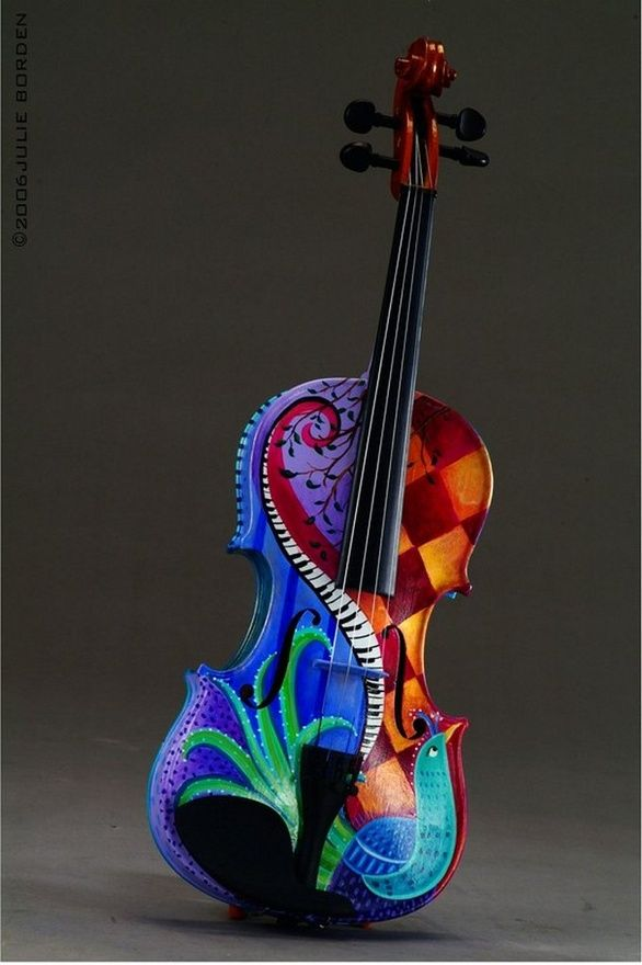 Painted Violin music-music-music