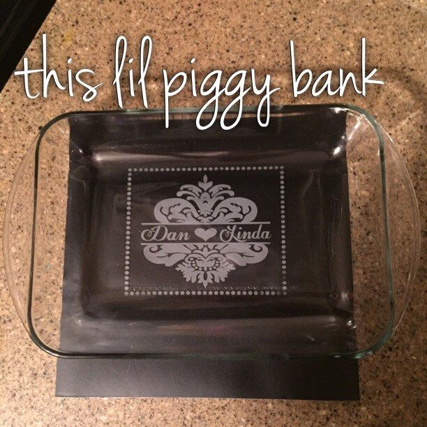 A personal favorite from my Etsy shop https://www.etsy.com/listing/226498832/etched-9-x-13-casserole-dish