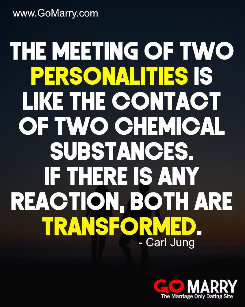 The Meeting Of Two Personalities Is Like The Contact Of Two