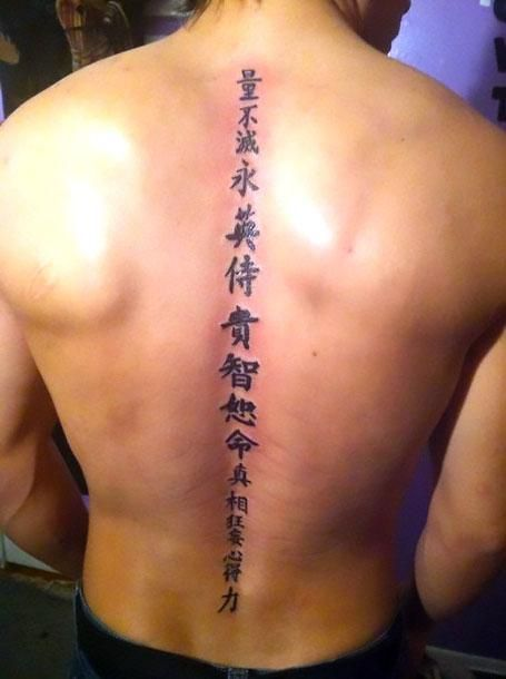 59d9f9c4f Chinese Spine Men Tattoo Idea | Tattoo ideas | Spine tattoos ...