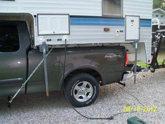 Camper Tie Downs Truck Camper Camper Recreational Vehicles