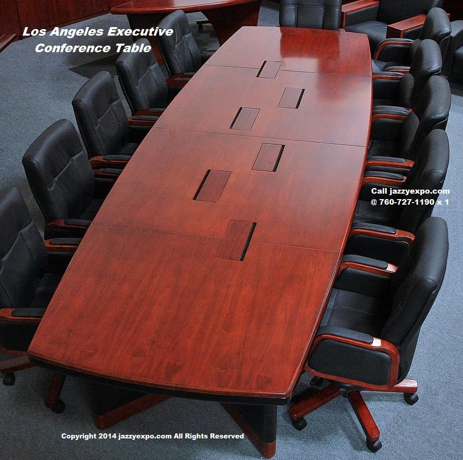 Executive Conference Table Los Angeles Model Top View
