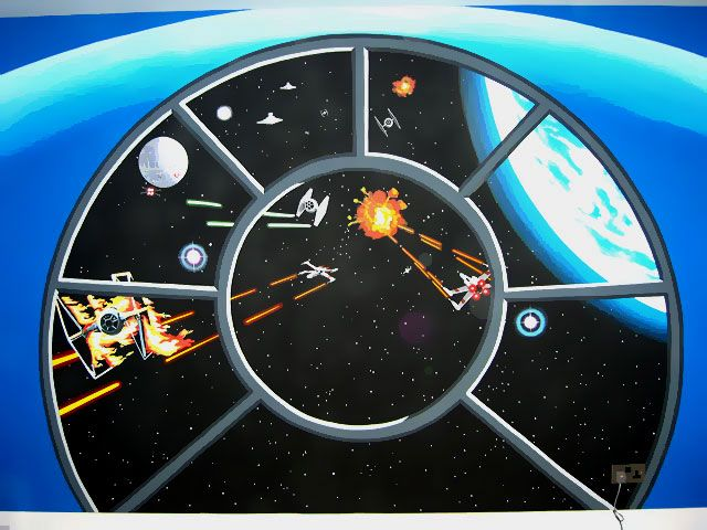 Star Wars Wall Murals star war wallpaper: star wars mural | my son room | pinterest