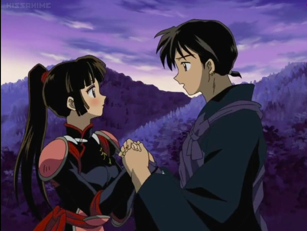 Miroku and Sango holding hands as they are in love from Inuyasha | Inuyasha,  Miroku, Inuyasha and sesshomaru