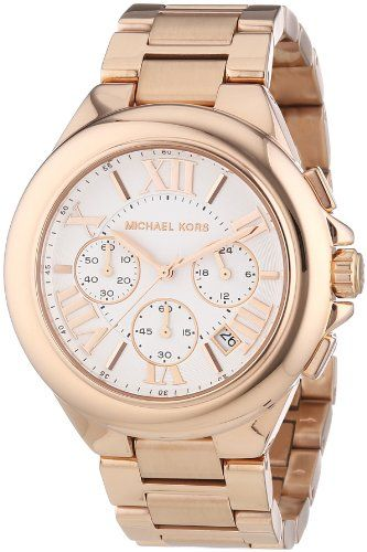 Michael Kors Damen-Armbanduhr XL Chronograph Quarz Edelstahl beschichtet MK5757: Amazon.de: Uhren