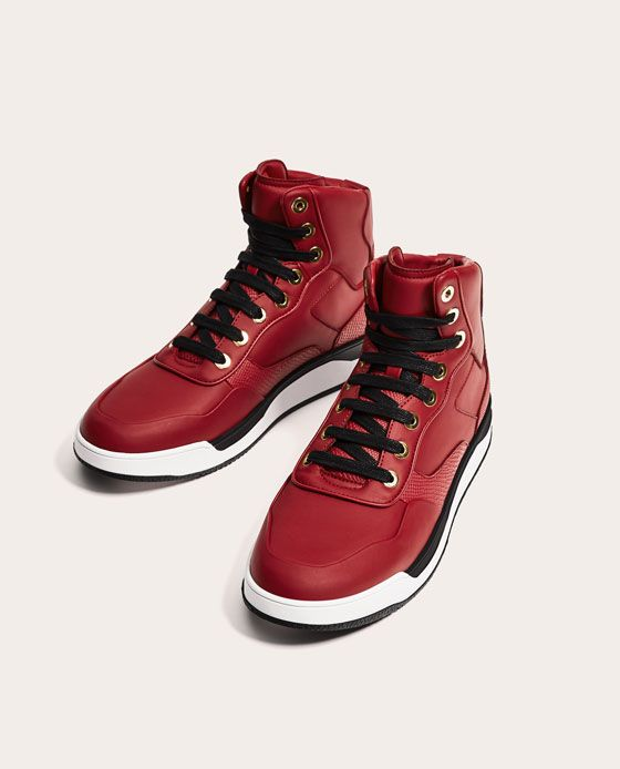 210059099d8 RED HIGH TOP SNEAKERS-View all-SHOES-MAN