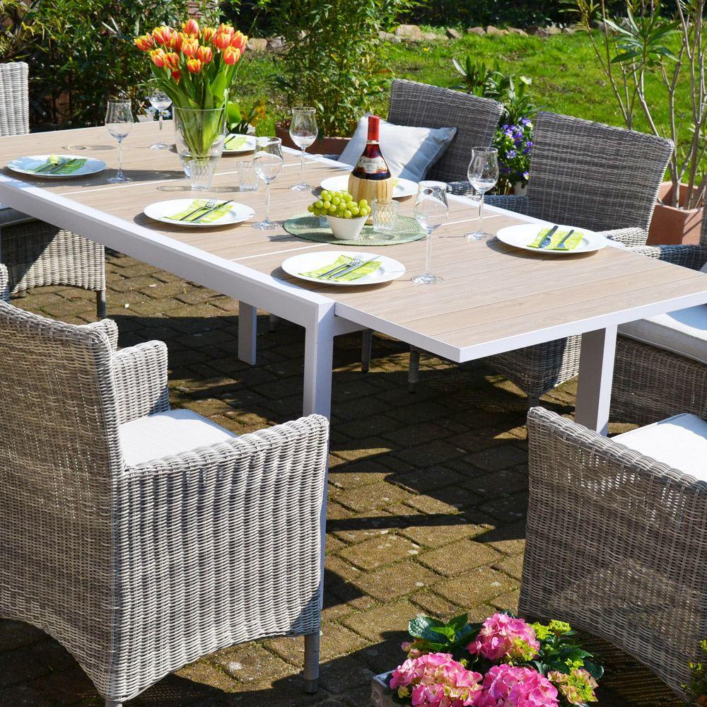 Sitzgruppe Madrid Mit 8 Sesseln Neapel Tisch Verlangerbar