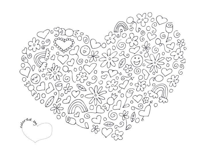 Heart Coloring Pagepdf