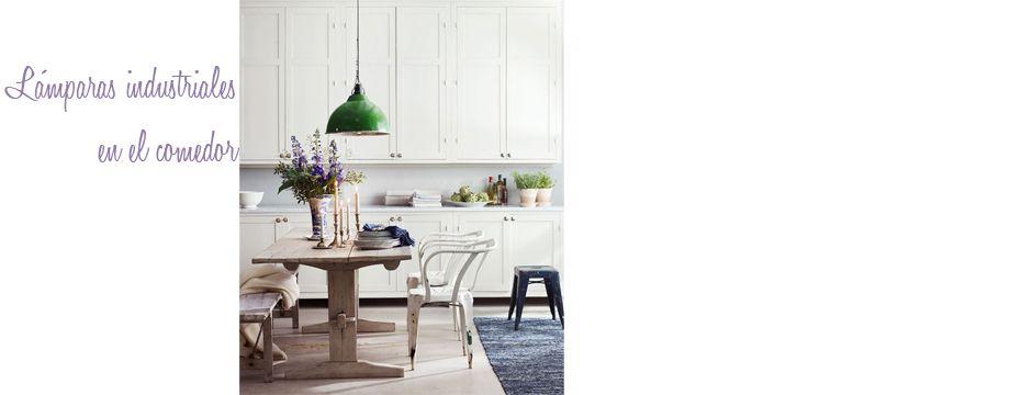 L mparas industriales en el comedor estilo escandinavo for Lamparas estilo escandinavo