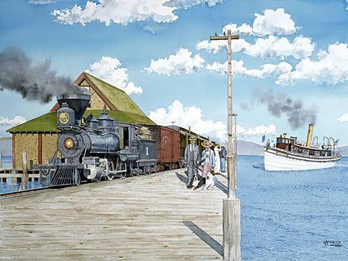 """Train Meets the Tahoe"""