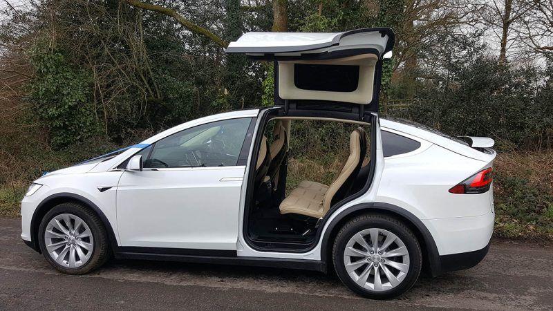 EcoFriendly Tesla 'X' Wedding Car Hire in Verwood, Dorset