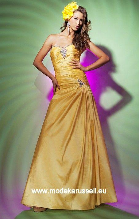 Abendmode Abendkleid Lang in Gelb | günstige Abendkleider Online ...
