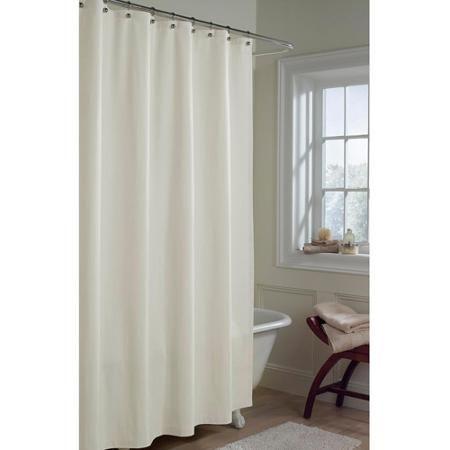 Maytex Microfiber Fabric Shower Curtain Liner Fabric Shower