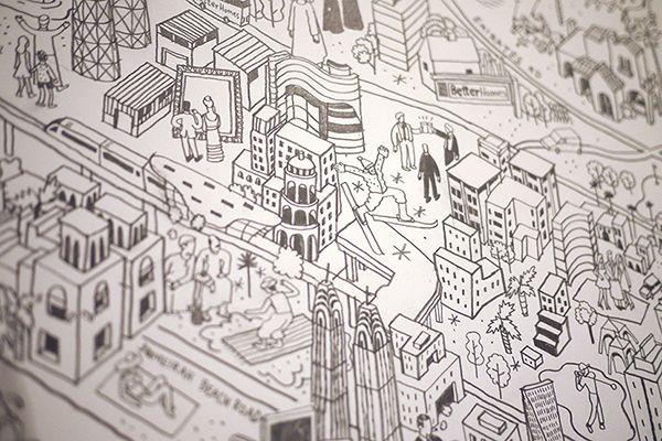 Dubai map illustration by Josh Cochran for Better Homes ... on