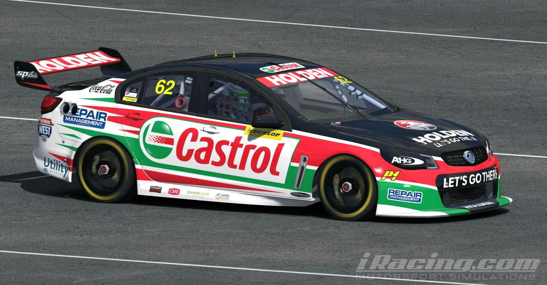 Alex Rullo Castrol V8 Supercar by Mitchell McLeod - Trading Paints Sim Racing /IRacing