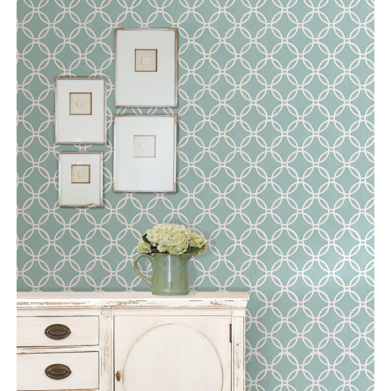 Brewster Blue Links Peel And Stick Wallpaper Nuwallpaper Peel And Stick Wallpaper Sophisticated Decor