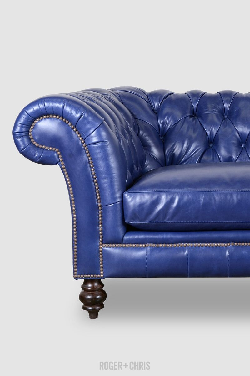 Lucille Sofas And Armchairs From Roger Chris Blue Leather Sofa