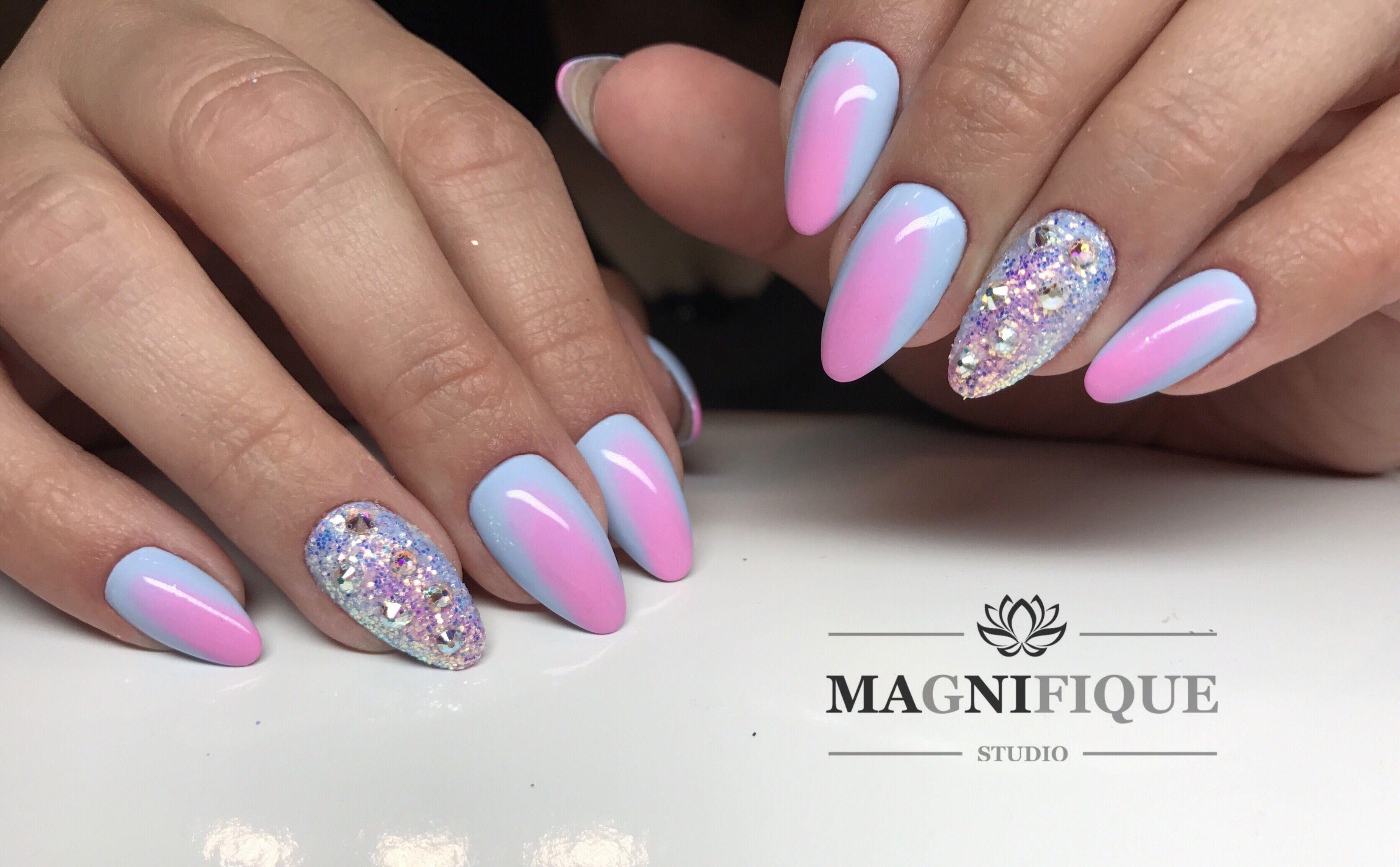 Ombre nails summer Indigo pixel | Paint my nails please! | Pinterest ...