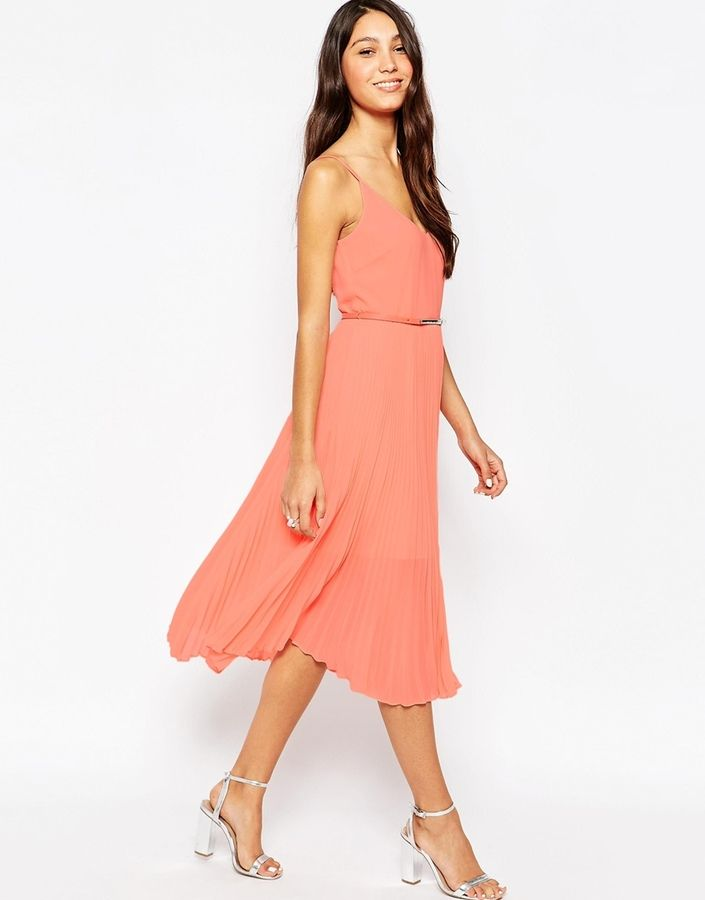 b1344c965ca7 Oasis Pleat Detail Midi Dress   Beautiful Fashion   Dresses, Oasis ...