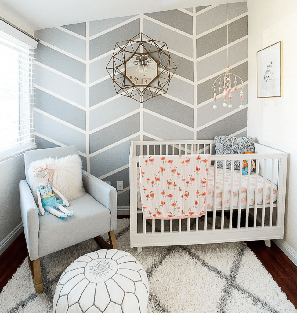 Best 19 Nursery Decor Ideas That Will Make You Say Oh Baby Accent Wall Bedroom Striped Accent 400 x 300