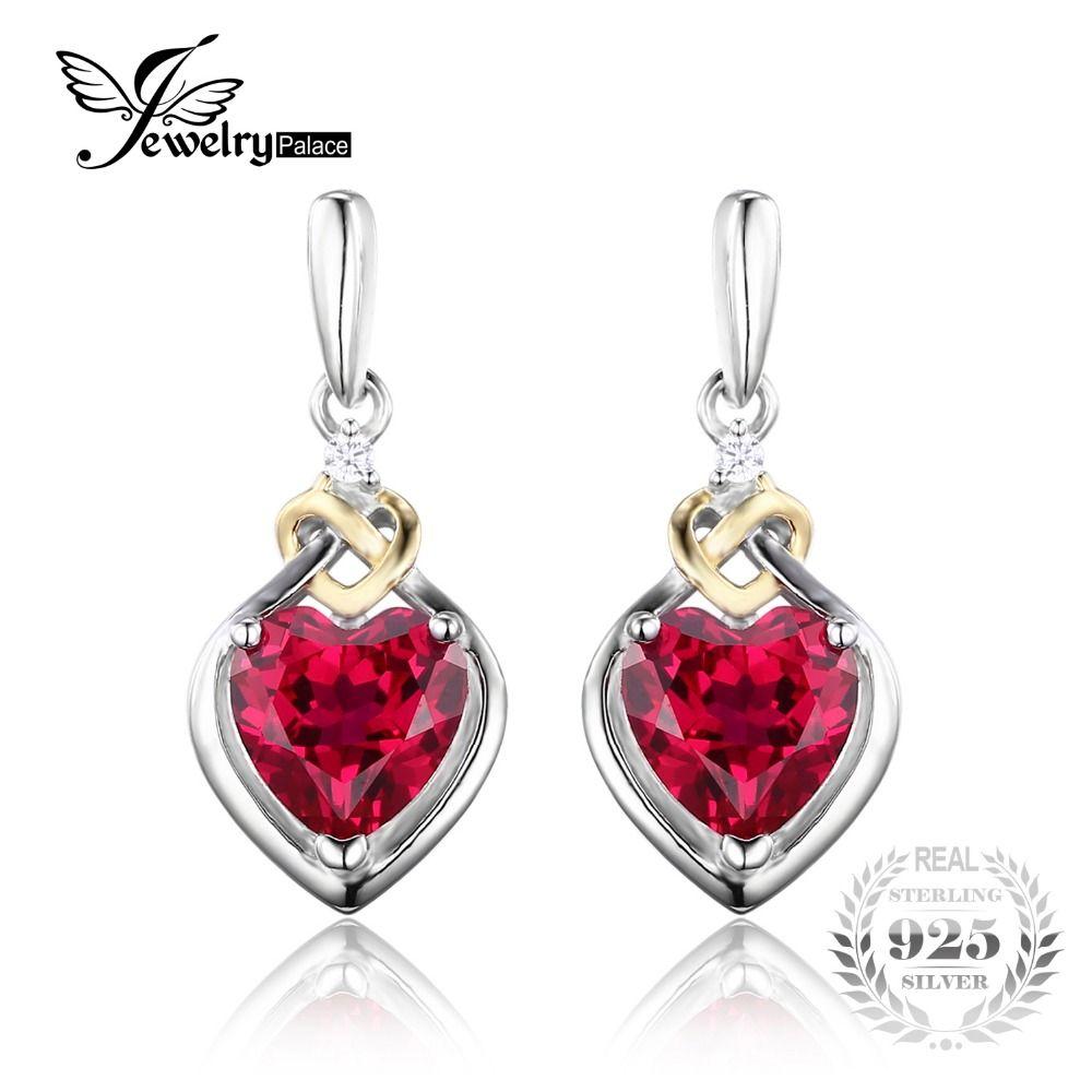 75b6c28f3387e Jewelrypalace אהבת קשר 3.4ct נוצר רד רובי יום נישואים drop להתנדנד ...