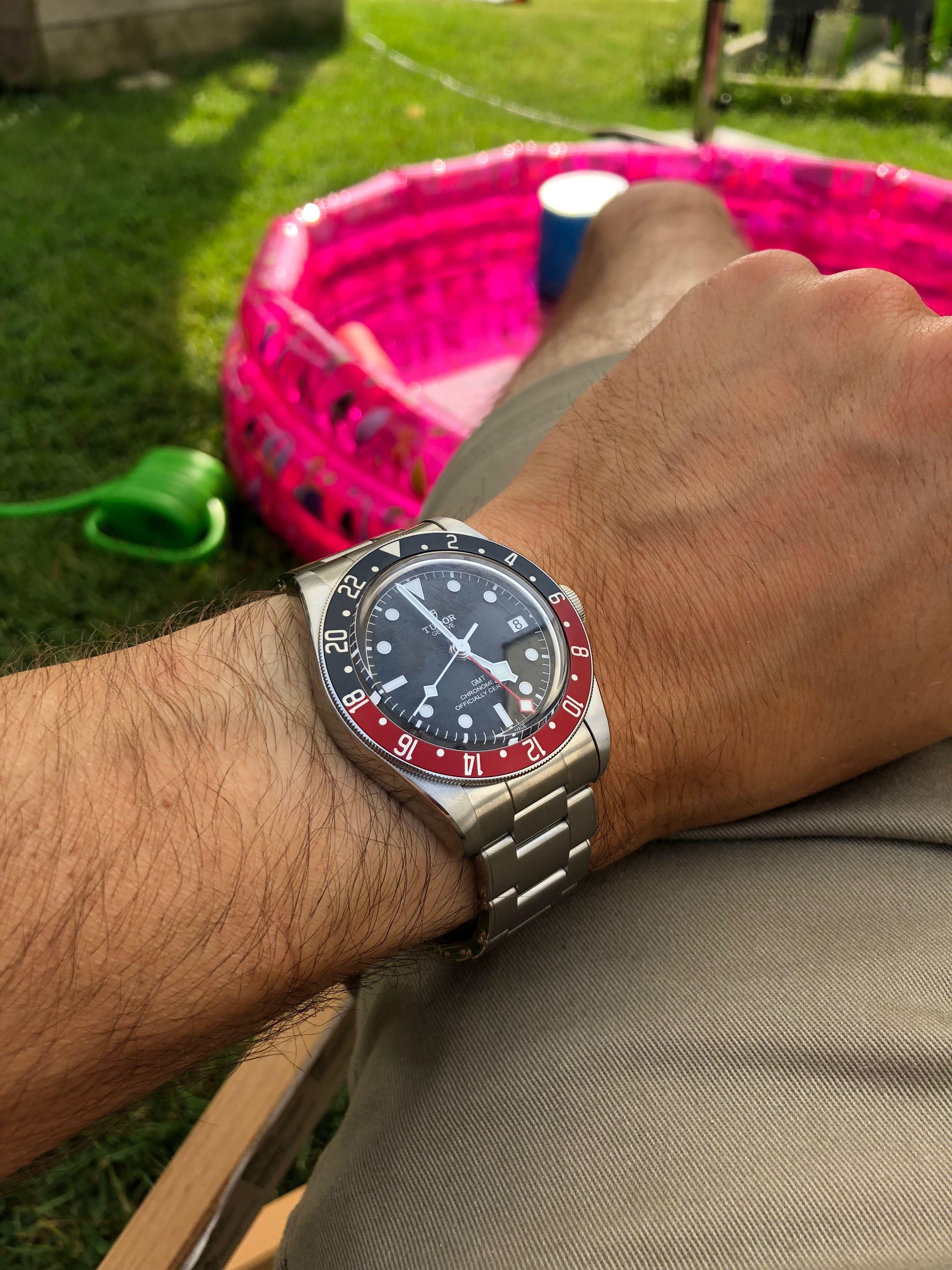 c293a804612 Wrist shot, Tudor Black bay GMT, luxury watch, Pepsi | Tudor in 2019 ...