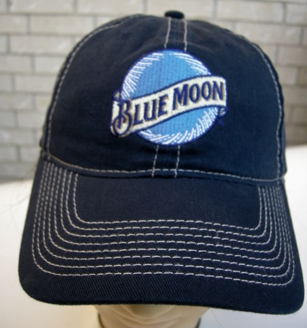 fbd12cc353bd4 Blue Moon Hat Beer Brewing Co Strapback Cap The Game Accent Double Stitched   Thegame  BaseballCap