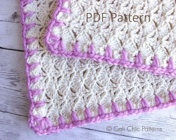 Baby Blanket PATTERN 16 - Cupcake- Easy Crochet Baby Blanket PATTERN ...