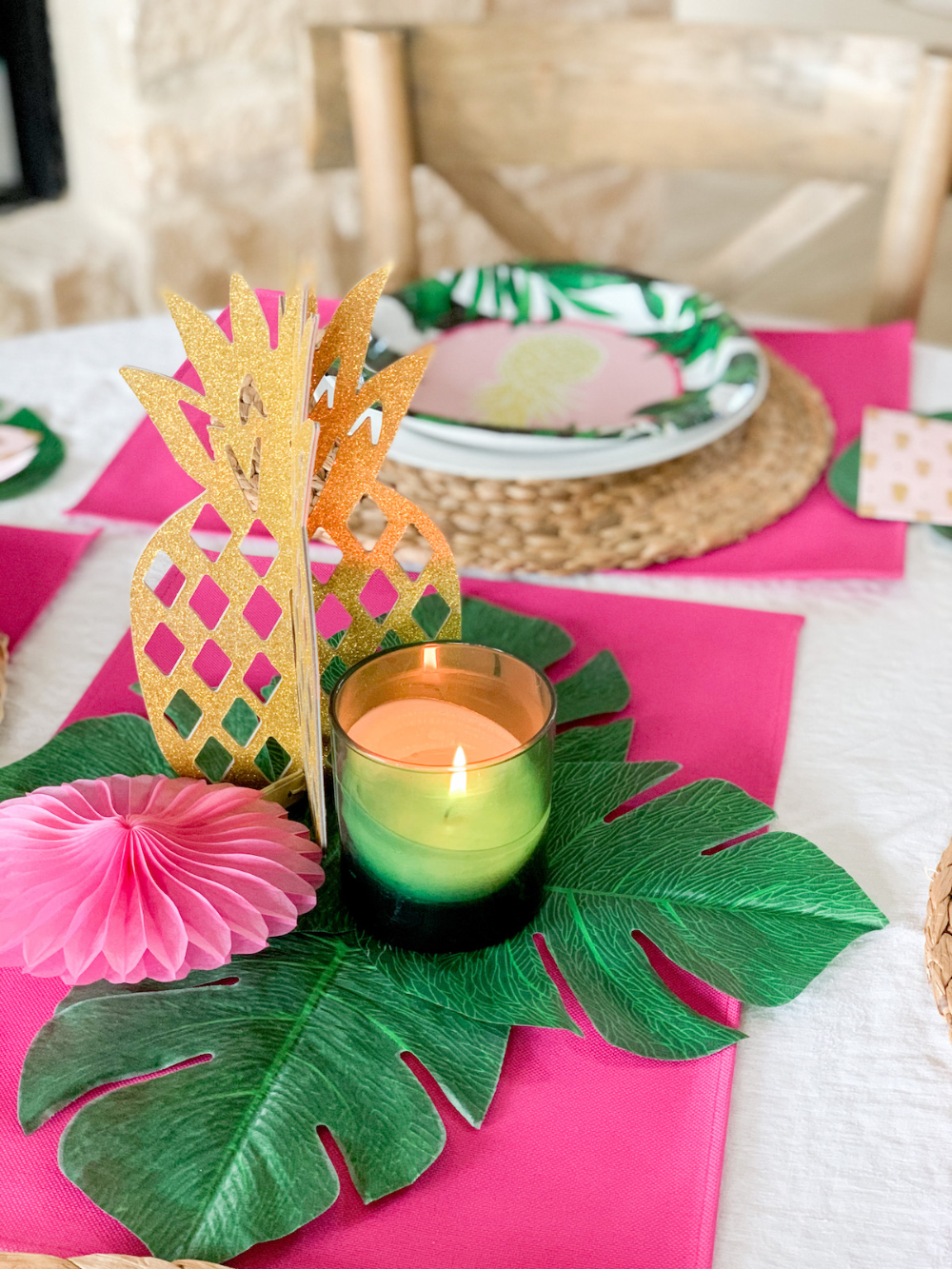 Lola's First Birthday: A Copacabana Party! | Cathedrals & Cafes Blog #pink #pinkparty #partydecor #birthday #birthdayparty #kidsbirthday #bithdayparties #copacabana #palmleaves #pinkandwhite #dogs #dogparty #furbaby #labradors #labs #yellowlab #partydecor #partyplanning #easydecor #birthdaycake #turningone #dogmom