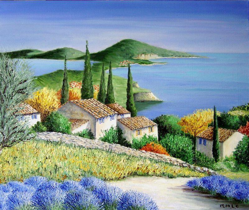 Aquarelle Paysages De Provence Recherche Google Avec Images