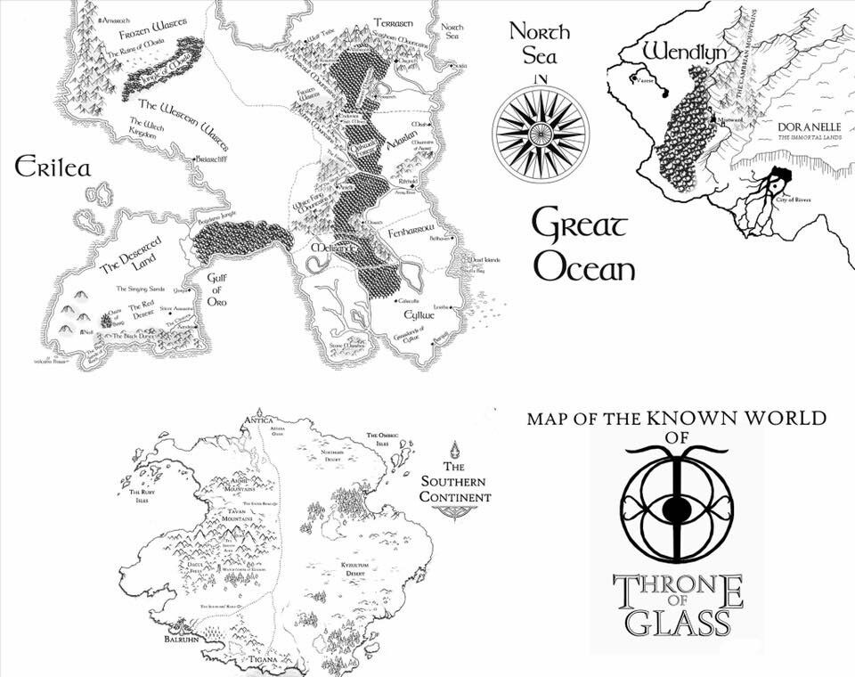 throne of glass world map Tog Map Throne Of Glass Books Throne Of Glass Throne Of Glass