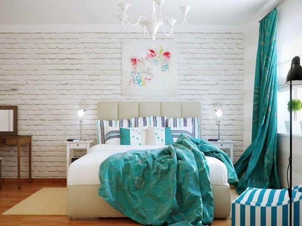 Cuartos Color Turquesa Y Blanco