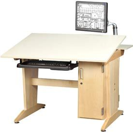Shain Art U0026 Drafting Vertical Tower Computer Table At School Outfitters