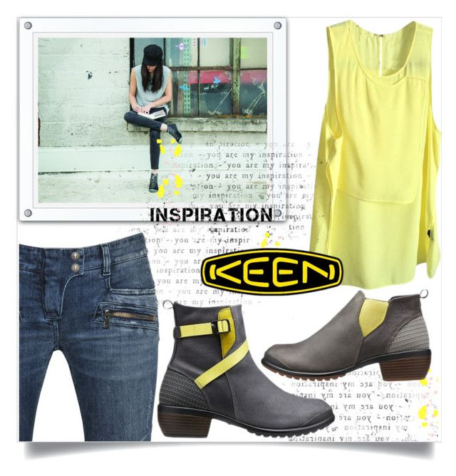 """""""So Fresh and So Keen: Contest Entry"""" by jecakns ❤ liked on Polyvore featuring Keen Footwear, Alexander Wang, Balmain and keen"""