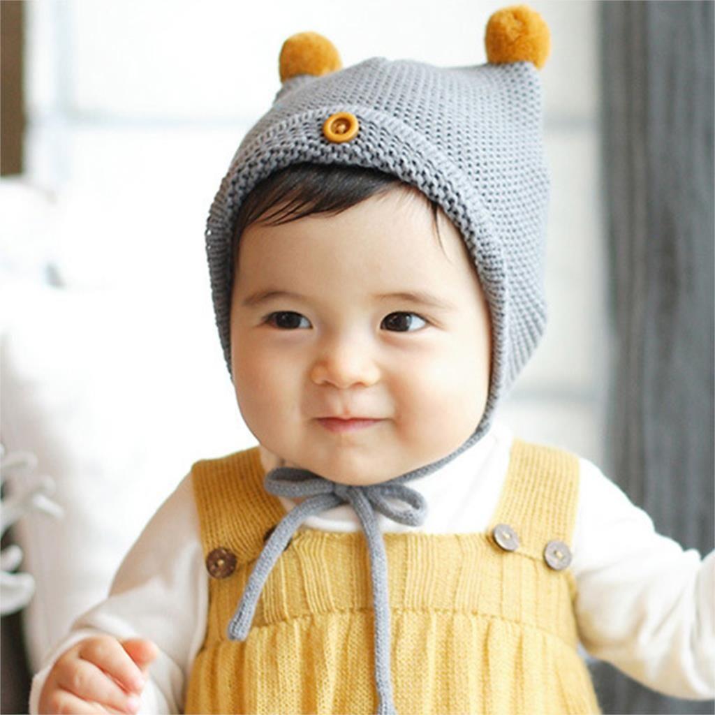 새로운 아기 소년 소녀 유아 유아 귀여운 부드러운 크로 셰 뜨개질 모자 비니 따뜻한 신생아 cap 아이 크리스마스 선물