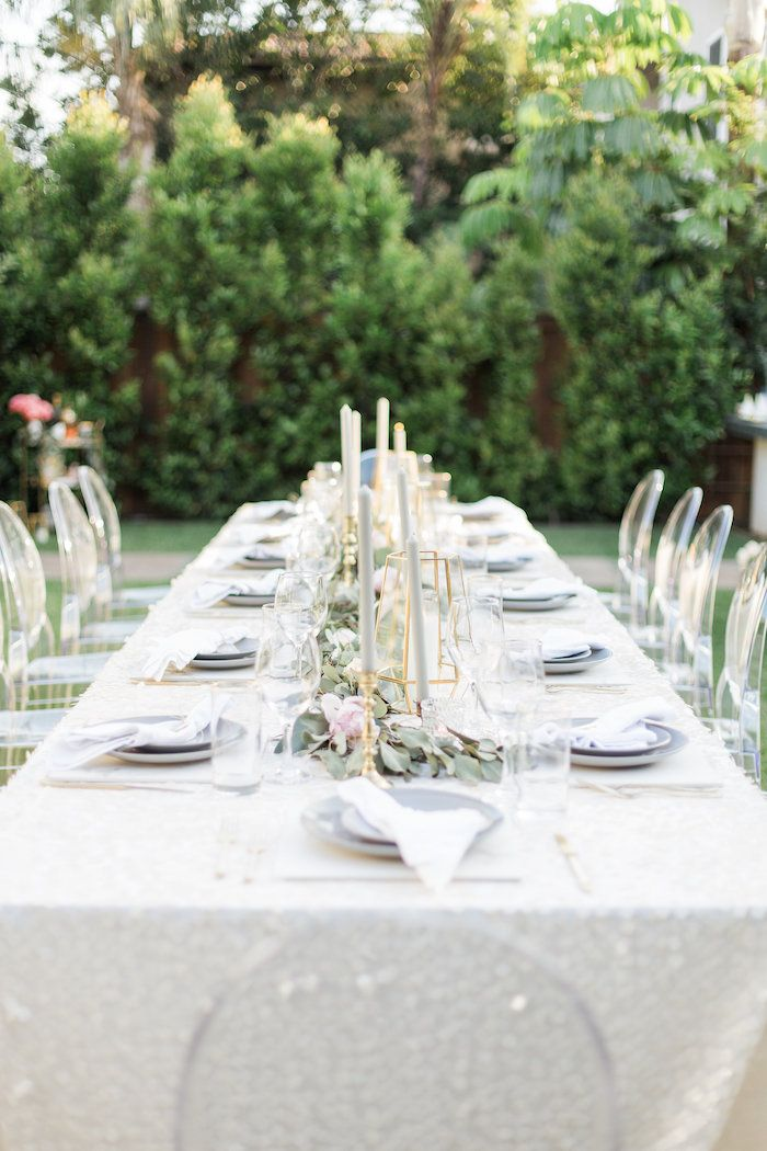 Nice 40th Birthday Dinner Party Ideas Part - 11: Guest Table From An Elegant Backyard 40th Birthday Party On Karau0027s Party  Ideas | KarasPartyIdeas.