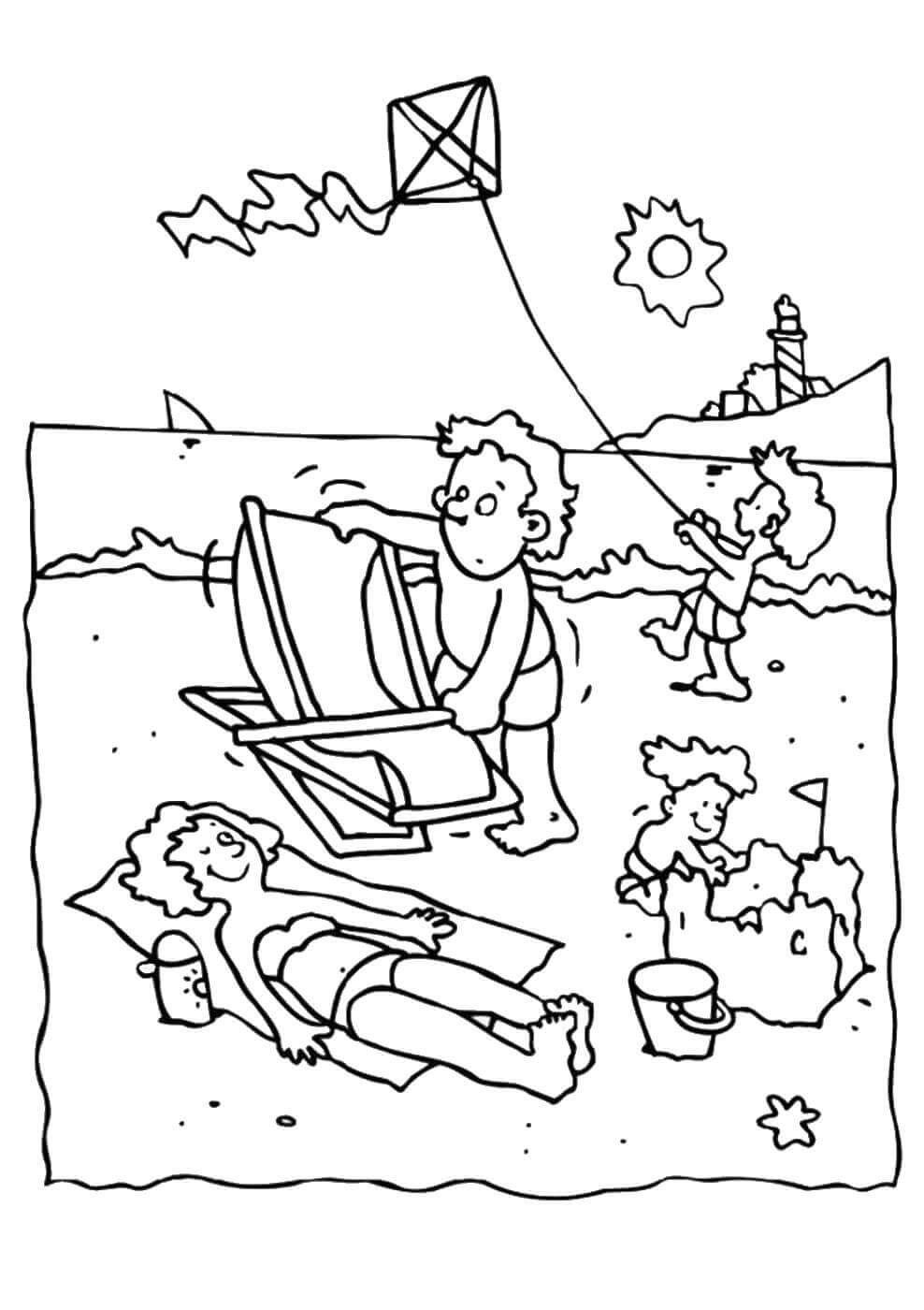 Beach Coloring Pages For Adults Printable Coloring Pages Printable
