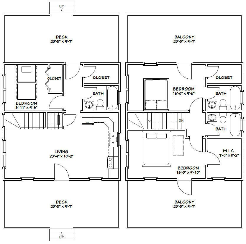 24x24 House -- 3 Bedroom -- 3 Bath 1,076 Sq Ft -- PDF