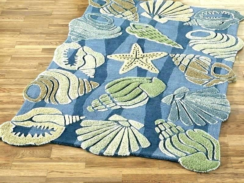Beach Style Bathroom Rugs