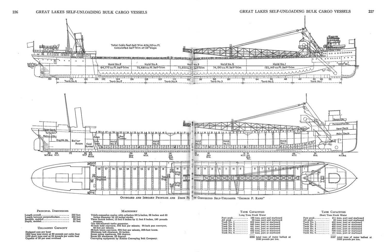 hight resolution of great lakes self unloading bulk cargo vessel plans by albert w
