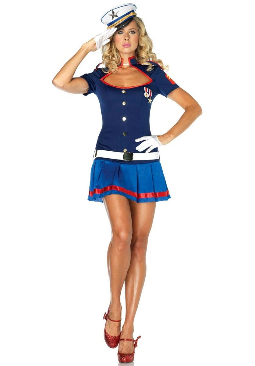 Semper Fi Sweetie Costume Sexy Sailor Fancy Dress - Occupations ...