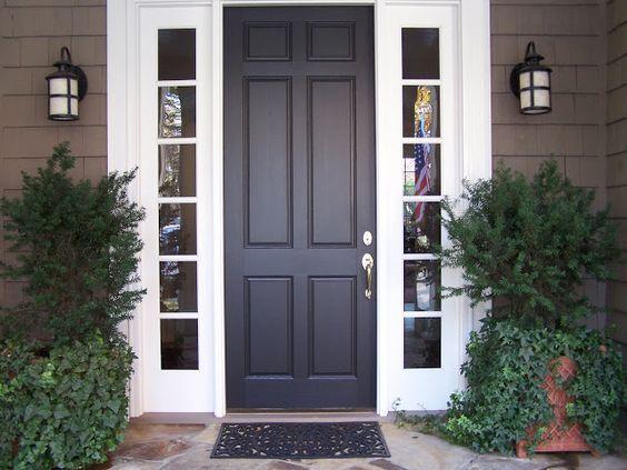 Doors: Front Door Sidelight Storm Windows And Dark Sidelight from ...