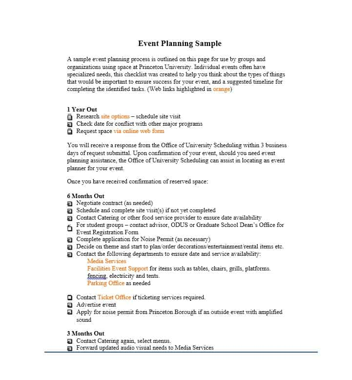 Event Planning Checklist Templates How to choose the